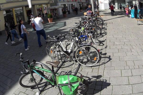 Neue Radbügel in der Innenstadt