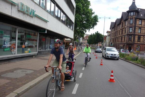 Erfolgreicher Radspur-Test: PopUpBikeLane am 13. Juni