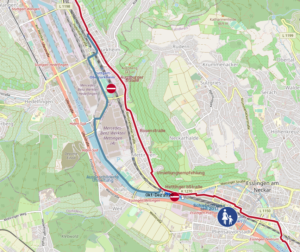 Umleitungsempfehlung Neckartalradweg Mettingen-Oberürkheim 2020