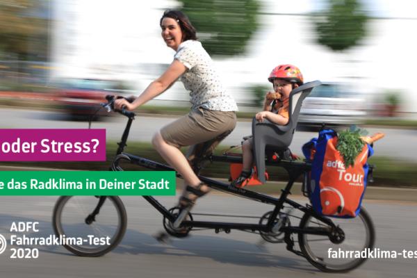 Fahrradklimatest: Spaß oder Stress?