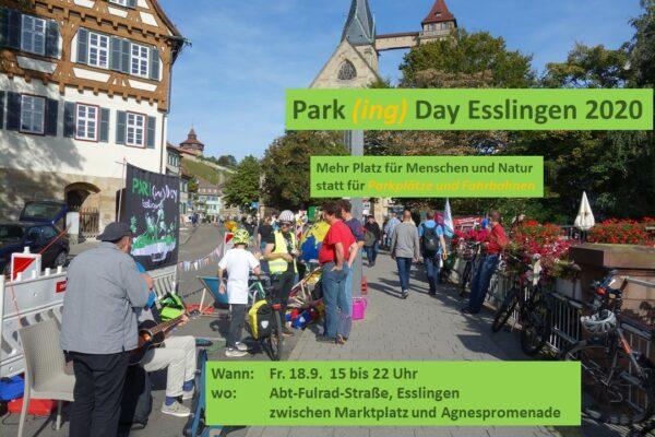 Park(ing) Day Esslingen 2020 –belebt die Popup-Spielstraße!