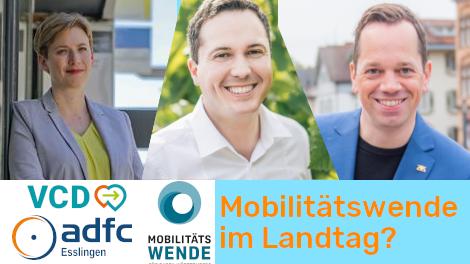 Kandidaten-Check 24.02. - Mobilitätswende im Landtag?