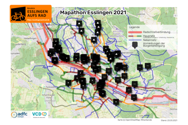 Ein durchgängiges Radnetz für Esslingen!
