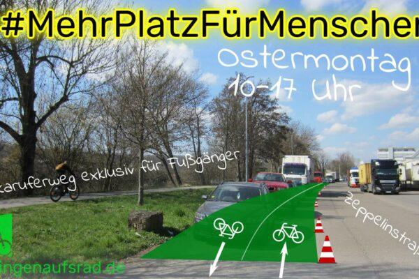Pop-Up-Radweg Zeppelinstraße Esslingen