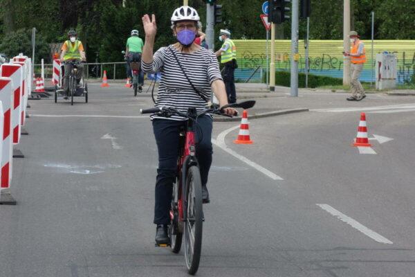 Erfolgreiche Pop-Up-Bike-Lane zum Weltfahrradtag