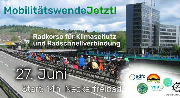Radkorso #MobilitätswendeJetzt! am 27.6.