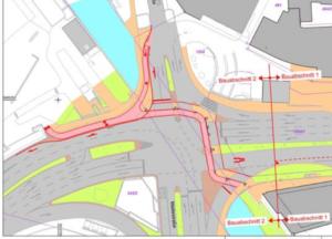 Alte Planungen zur Querung der Maille-Kreuzung. Quelle: esslingen.de