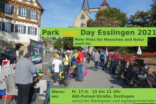 Park(ing) Day Esslingen 2021 – belebt die Popup-Spielstraße!